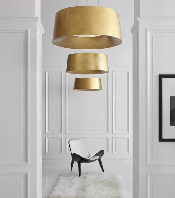 Visual Comfort Halo Hanging Shade Gold